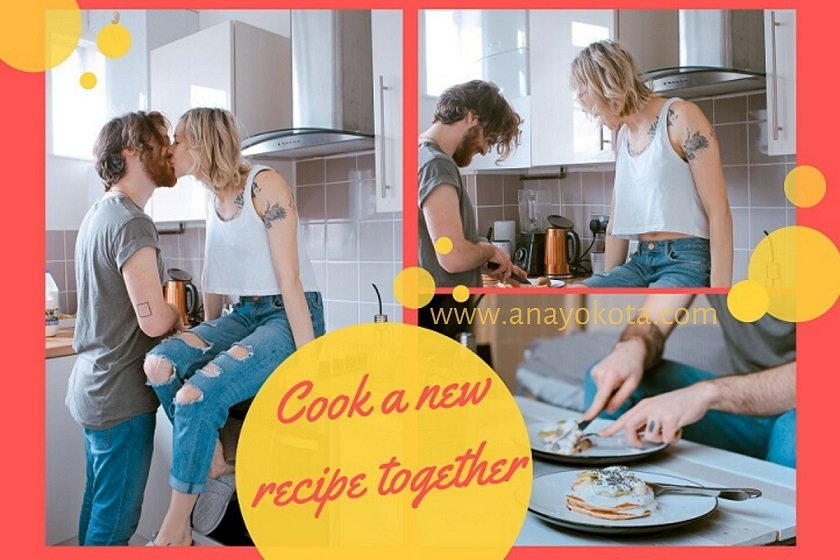 cook a new recipe together