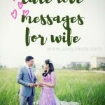 cute love messages for wife