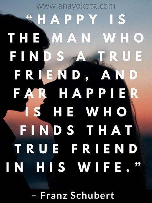 Franz Schubert quote on happy man