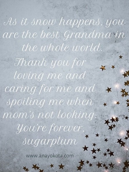 Grandma note for holiday laugh