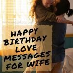 happy birthday love messages for wife