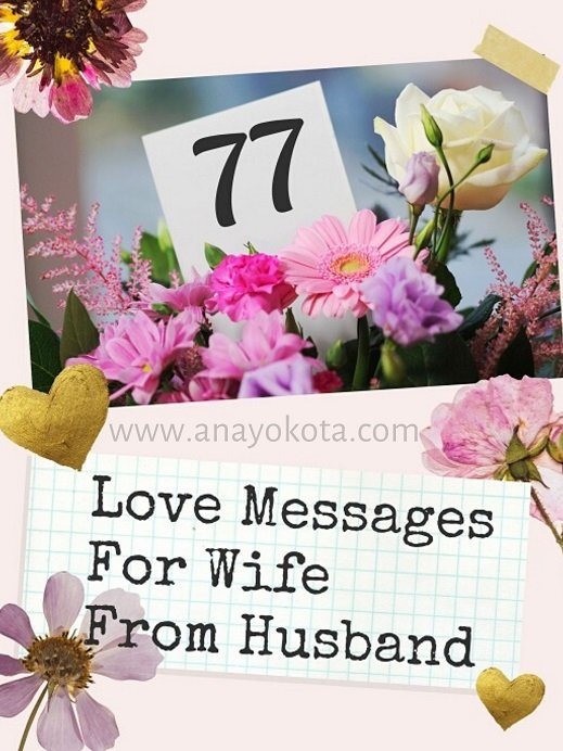 Love messages and quotes for wife from husband