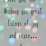 Funny Christmas Card Message for Mom