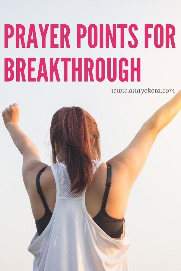breakthrough prayers scriptures