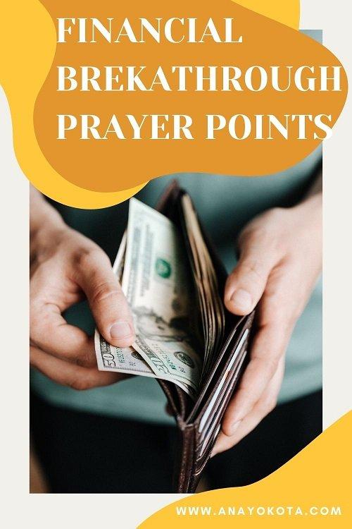 prayer bullets for financial breakthrough
