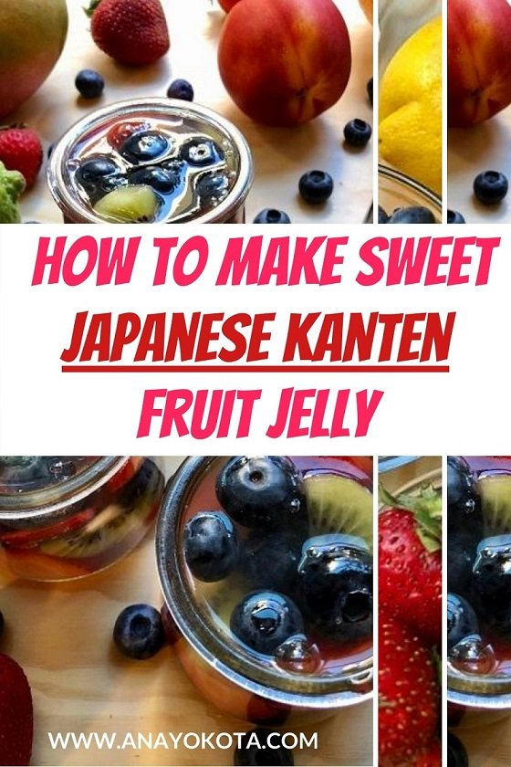 sweet japanese kanten fruit jelly