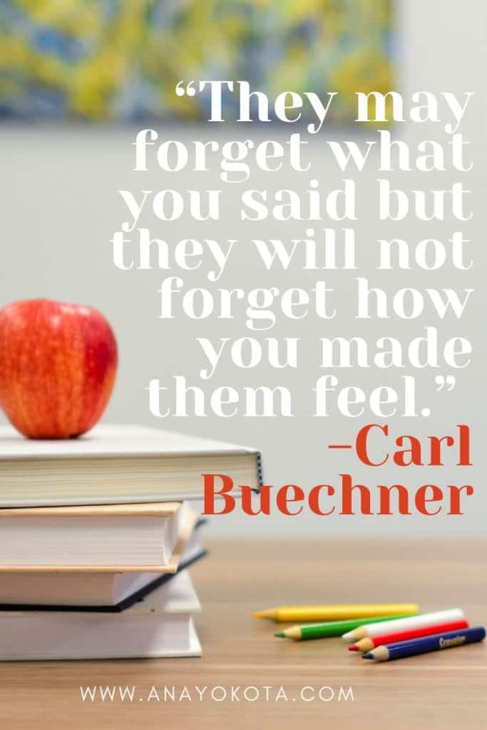 appreciate quotes for teachers thanking