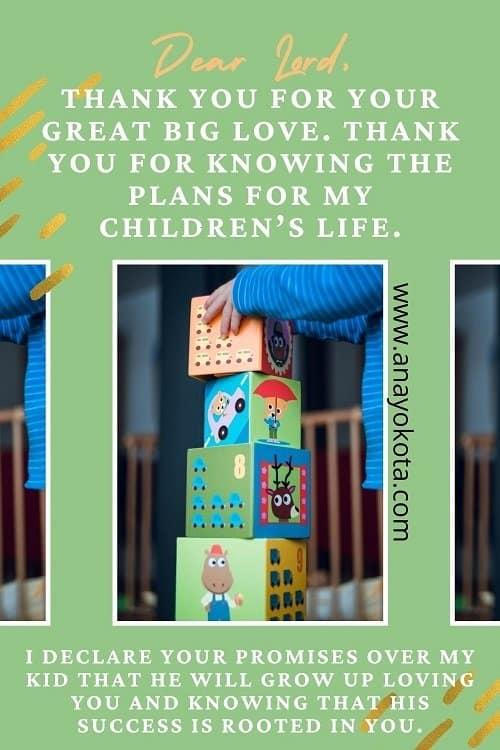 prayer points for my children