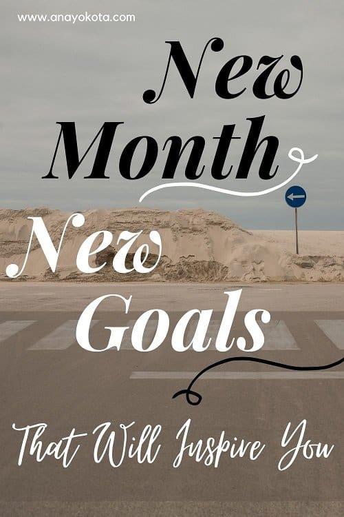 monthly goals ideas