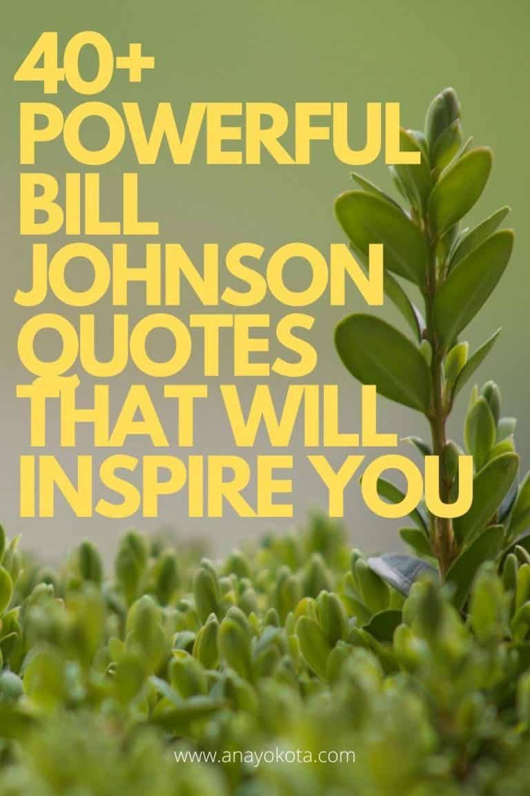 40+ POWERFUL BILL JOHNSON QUOTES THAT WILL INSPIRE YOU