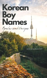 popular korean boy names 2020