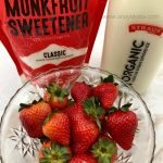 milk with strawberry