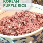 purple rice korean