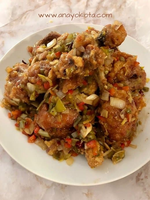 HOW TO MAKE DELICIOUS KKANPUNGGI (KOREAN-CHINESE SPICY FRIED CHICKEN)